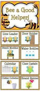 Bee a Helper! Classroom Jobs Display & Clip Chart