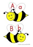Bee alphabet line