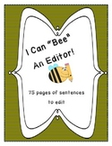 """Bee"" an Editor- Daily Sentence Editing Book: Kindergarten"