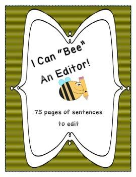 """Bee"" an Editor- Daily Sentence Editing Book: Kindergarten"