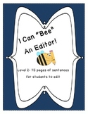 """""""Bee"""" an Editor- Daily Sentence Editing Book:Level 2- First and Second Grade"""