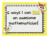 Bee an awesome mathematician Common Core
