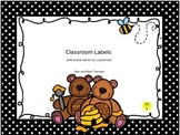 Bee and Bear Themed Classroom Labels