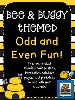 Bee and Buggy Themed Odd & Even Posters, Notebook Pages, and Printable Fun!
