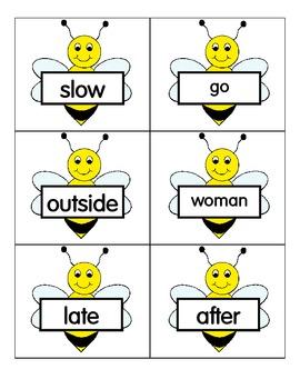 Bee and Hive Antonym Match