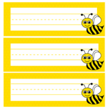 Bees and Honey Comb Desk Plates