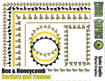 Bee and Honeycomb Border and Photo Frames