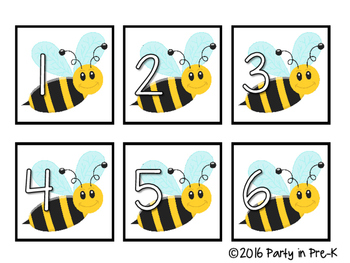 Bee and Honeycomb Number Cards 0-31 FREEBIE
