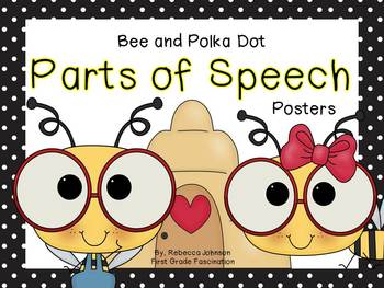 Bee and Polka Dot Parts of Speech posters