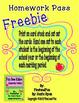 Bee bee-havior Homework PassFreebie