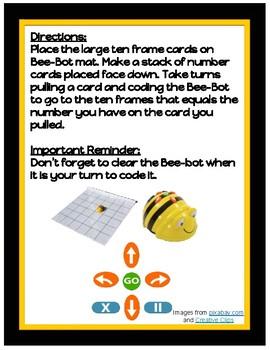 Bee-bot 10 Frames