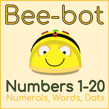 Bee-bot Mats Numbers 1-20 (Dots, Numerals, Words)