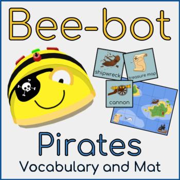Bee-bot Pirate Mat - Vocabulary and Mat