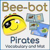 Bee-bot Pirate Mat - Vocabulary and Mat