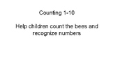 Bee counting 1-10
