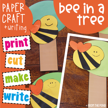 Bee in a Tree - Cut and Paste Kindergarten Craft