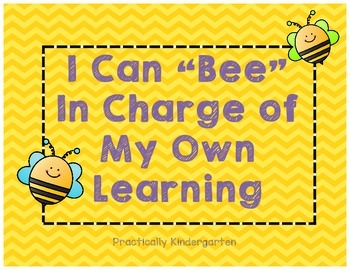 Bee in charge of your learning - learning reflection tickets