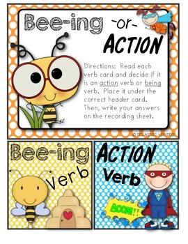 Bee-ing Verbs Pack