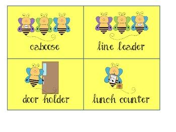 Bee job cards