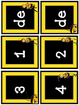 Bee numeros para calendario