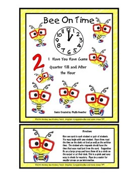 Bee on Time  I have you have  (Quarter Till and After the Hour)