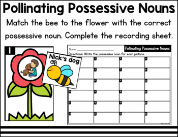 Bees Literacy and Math Centers