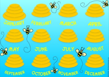 Bee-themed Birthday Chart