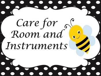 Bee themed Music rules and Marzano Hand signs