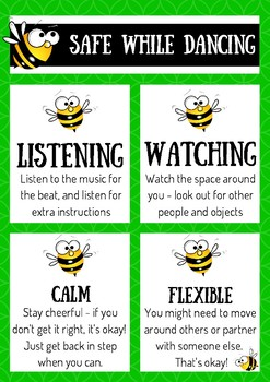 Bee themed behaviour posters