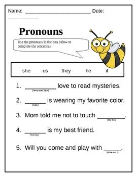 Bee-utiful Pronouns