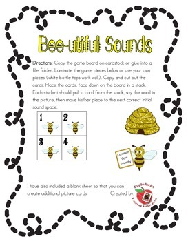 Bee-utiful Sounds: Initial a, d, c, f, p