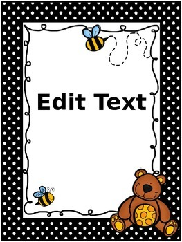Bee/Bear themed poster set