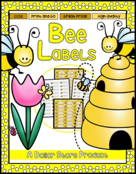 Bee/Beehive Theme Classroom Labels