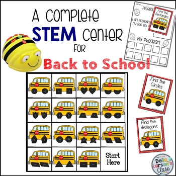 BeeBot Back to School Bus Shapes