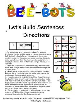 BeeBot: Let's Make Pre-Primer Words Into Sentences