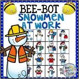 BeeBot Snowmen at Work