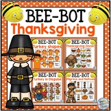 Bee Bot Thanksgiving BUNDLE