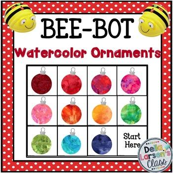 BeeBot Watercolor Ornaments {Hour of Code Appreciation FREEBIE}