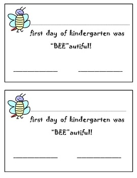 """Bee""autiful First Day"