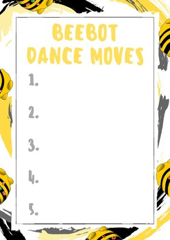 Beebot Dance Chart Display