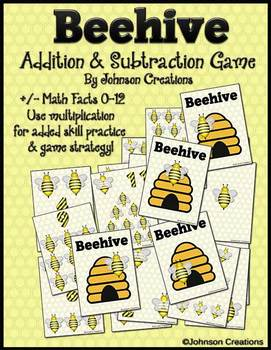 Beehive Addition & Subtraction Math Game