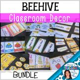 Beehive Classroom Decor Theme - BUNDLE with Editable Elements