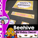 Beehive Classroom Decor Theme - Birthday Decor with EDITAB