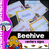 Beehive Classroom Decor Theme - Center Posters with EDITAB