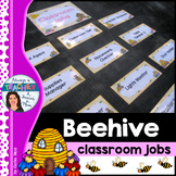 Beehive Classroom Decor Theme - Classroom Jobs with EDITABLE pages