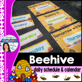 Beehive Classroom Decor Theme - Daily Schedule and Calenda
