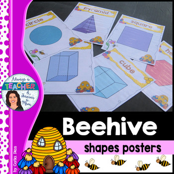 Beehive Classroom Decor Theme - Shapes Posters