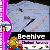 Beehive Classroom Decor Theme - Student Awards with EDITAB