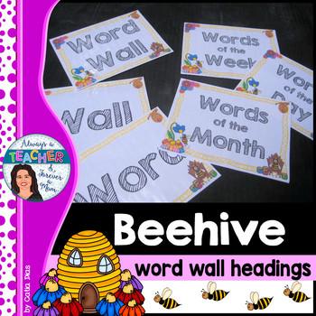 Beehive Classroom Decor Theme - Word Wall Headings