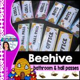 Beehive Classroom Theme - Bathroom & Hall Passes with EDIT